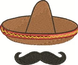 Mexican Mustache embroidery design