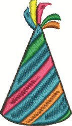 Striped Party Hat embroidery design