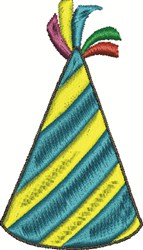 Fancy Party Hat embroidery design
