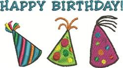 Birthday Hats embroidery design