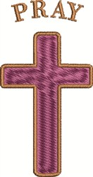Pray Cross embroidery design
