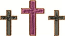 Three Crosses embroidery design