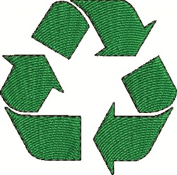Recycle Sign embroidery design