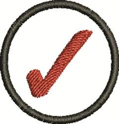 Red Checkmark embroidery design