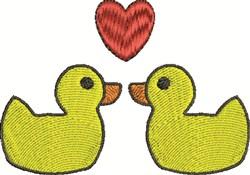 Rubber Duck Love embroidery design