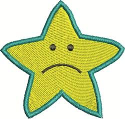 Sad Star embroidery design