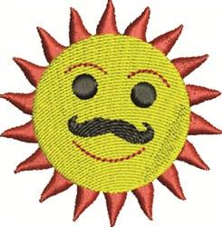 Mustache Sun embroidery design