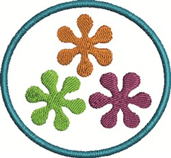 Asterisk In Circle embroidery design