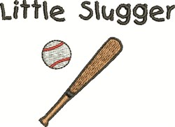 Little Slugger embroidery design