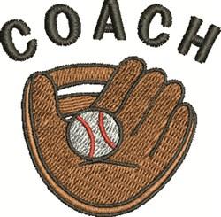 Baseball Coach embroidery design