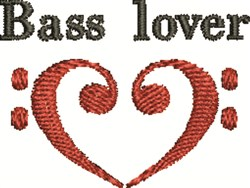 Bass Lover embroidery design