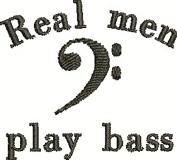 Play Bass embroidery design