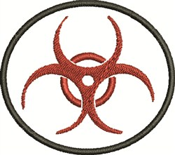 Biohazard Circle embroidery design