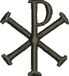 Chi Rho Symbol embroidery design