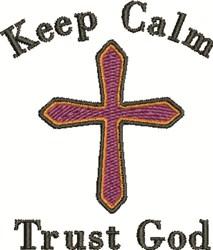Trust God embroidery design
