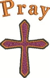 Pray Cross embroidery design