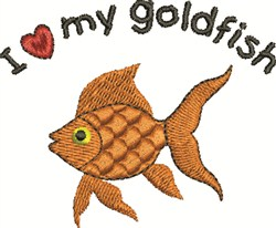 My Goldfish embroidery design