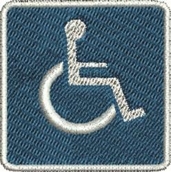 Handicap Sign embroidery design