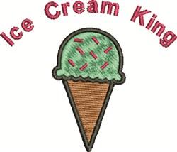 Ice Cream Kig embroidery design