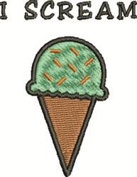 Ice Cream Scream embroidery design