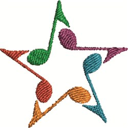 Musical Star embroidery design
