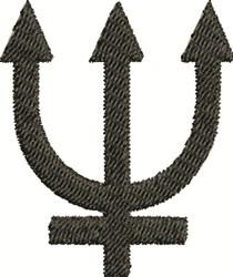 Neptune Symbol embroidery design
