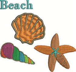 Beach Shells embroidery design