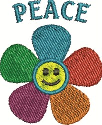 Peace Flower embroidery design