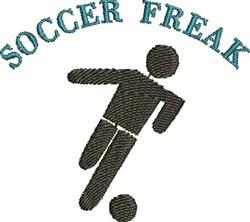 Soccer Freak embroidery design