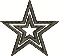 Double Star embroidery design