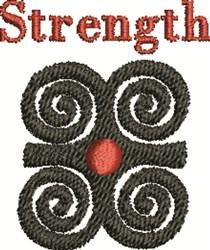 Strength Symbol embroidery design