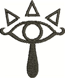 Sheikah Eye Outline embroidery design