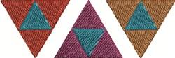 Zelda Triangles embroidery design
