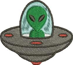 Alien In Ship embroidery design