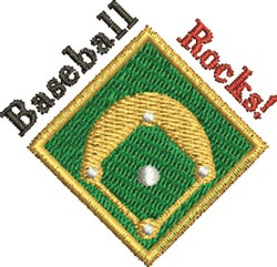 Baseball Rocks embroidery design