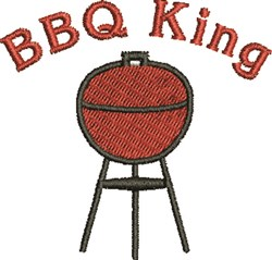 BBQ King embroidery design