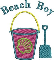 Beach Bucket Boy embroidery design