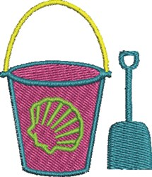 Beach Bucket embroidery design