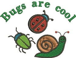 Bugs Are Cool embroidery design