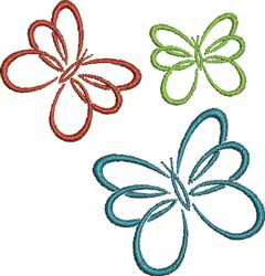 Butterfly Outlines embroidery design