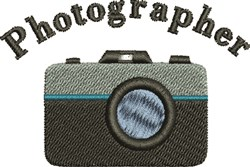 Photographer embroidery design