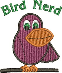 Bird Nerd embroidery design