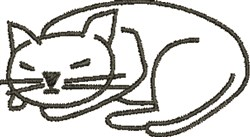 Cat Outline embroidery design