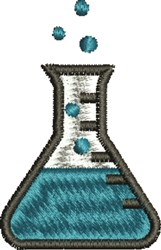 Chemistry Flask embroidery design