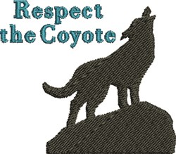 Respect The Coyote embroidery design