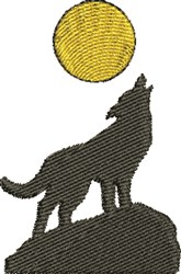 Coyote Moonlight embroidery design