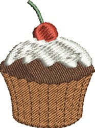 Cupcake and Cherry embroidery design