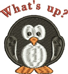 Whats Up Penguin embroidery design