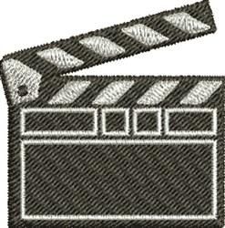 Film Clapboard embroidery design