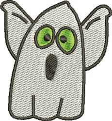 Scared Ghost embroidery design